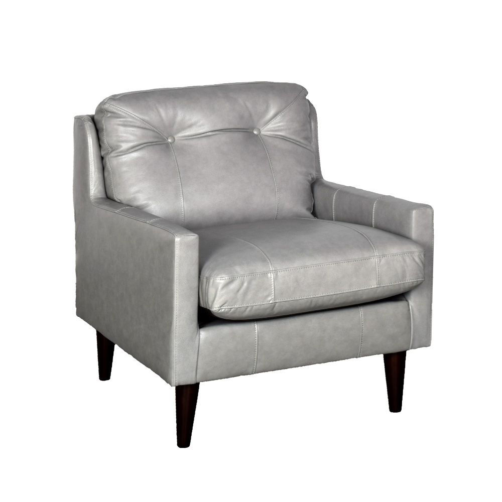 Picture of Trevin Leather Chair - Gray