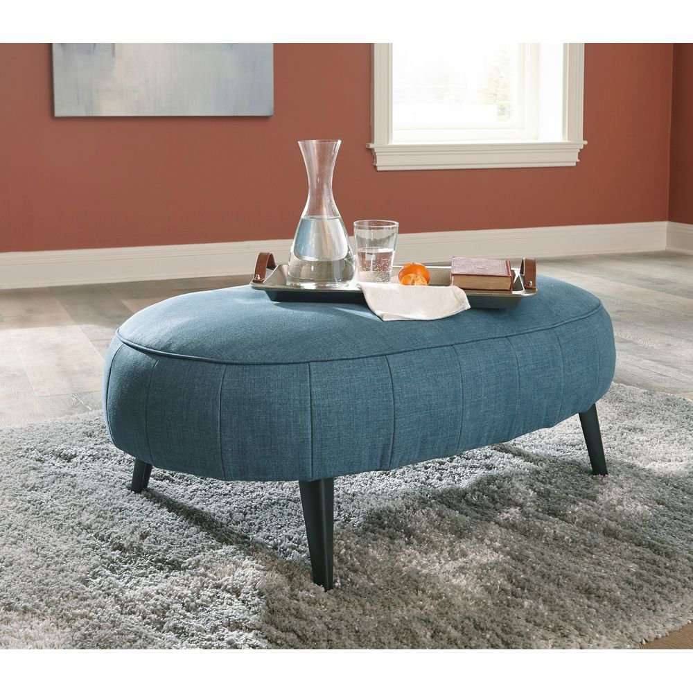 Picture of Holly Oversized Ottoman - Blue