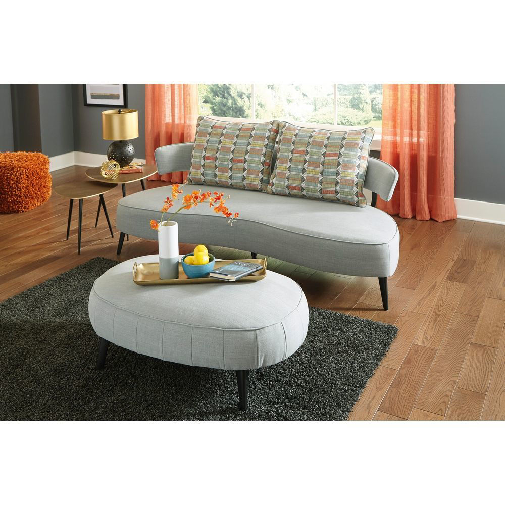 Picture of Holly Oversized Ottoman - Gray
