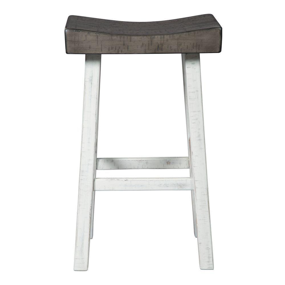 Glosco Bar Stool - White - Front