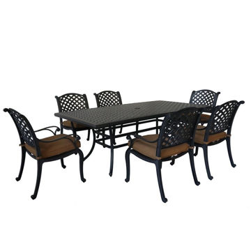 Picture of Taos 2 Outdoor 7-Piece Patio Set with Arm Chairs