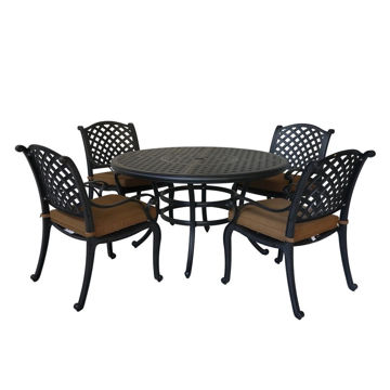 Picture of Taos 2 Outdoor 5-Piece Patio Set with Arm Chairs