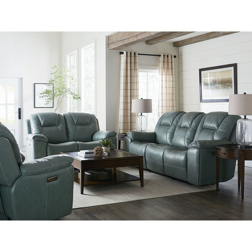 Picture of Chandler Power Recliner with Headrest - Blue Gray