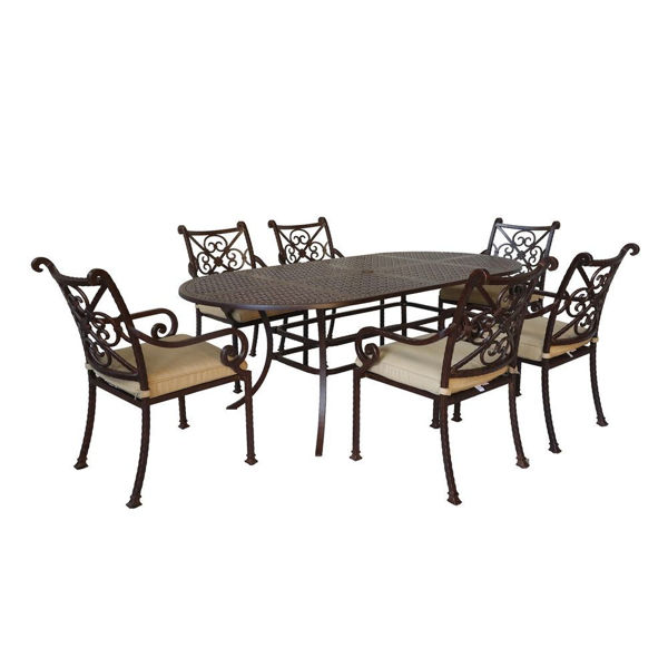 Picture of Santa Rosa 2 Oval Patio Set with Arm Chairs