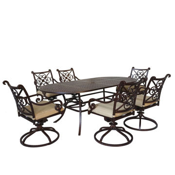 Picture of Santa Rosa 2 Outdoor Dining Set with Swivel Chairs