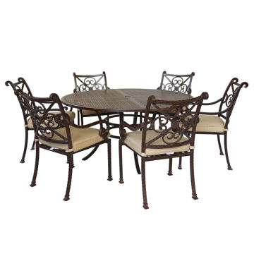 Picture of Santa Rosa 2 Round Patio Set with Arm Chairs