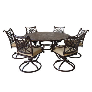 Picture of Santa Rosa 2 Round Patio Set with Swivel Chairs