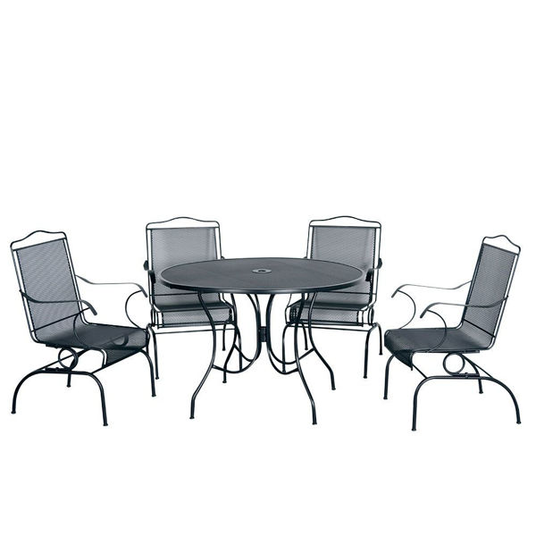 Picture of Madrid 5-Piece Outdoor Round Dining Set