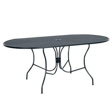 "Picture of Madrid 72"" Oval Patio Table"