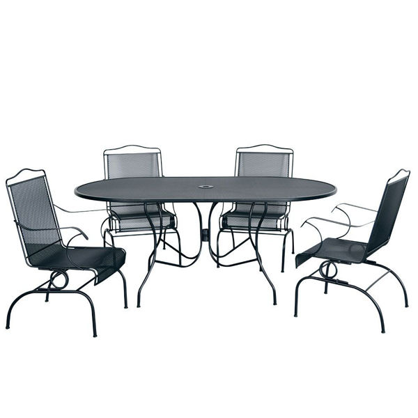 Picture of Madrid 5-Piece Oval Dining Set