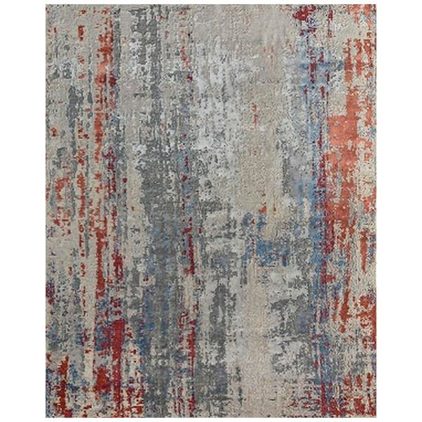 Picture of Antiqued Rust 100% Wool Area Rug - 8' x 10'