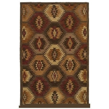 Picture of Gray and Mink Colored Wool/Viscose Area Rug - 8' x 10'