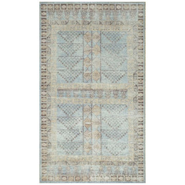 Picture of Antiqued Light Blue Tribal Area Rug