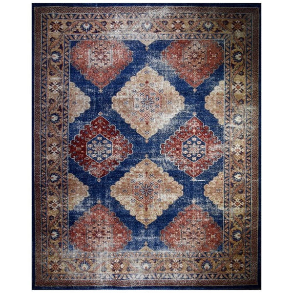 Picture of Antiqued Blue 100% Wool Area Rug