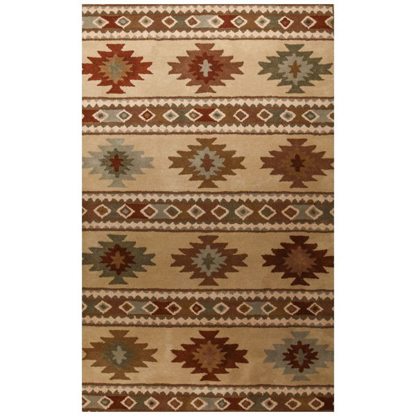 Picture of Ivory Southwest Blanket Rug