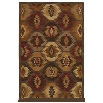 Picture of Southwest Diamonds Wool Area Rug - 8' x 11'