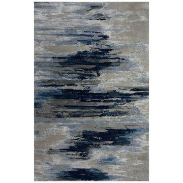 Picture of Midnight Wool Viscose Modern Rug