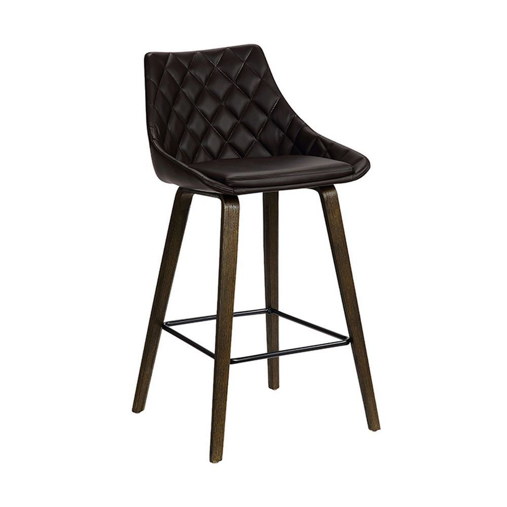 """Picture of Dani 26"""" Upholstered Stool - Brown"""