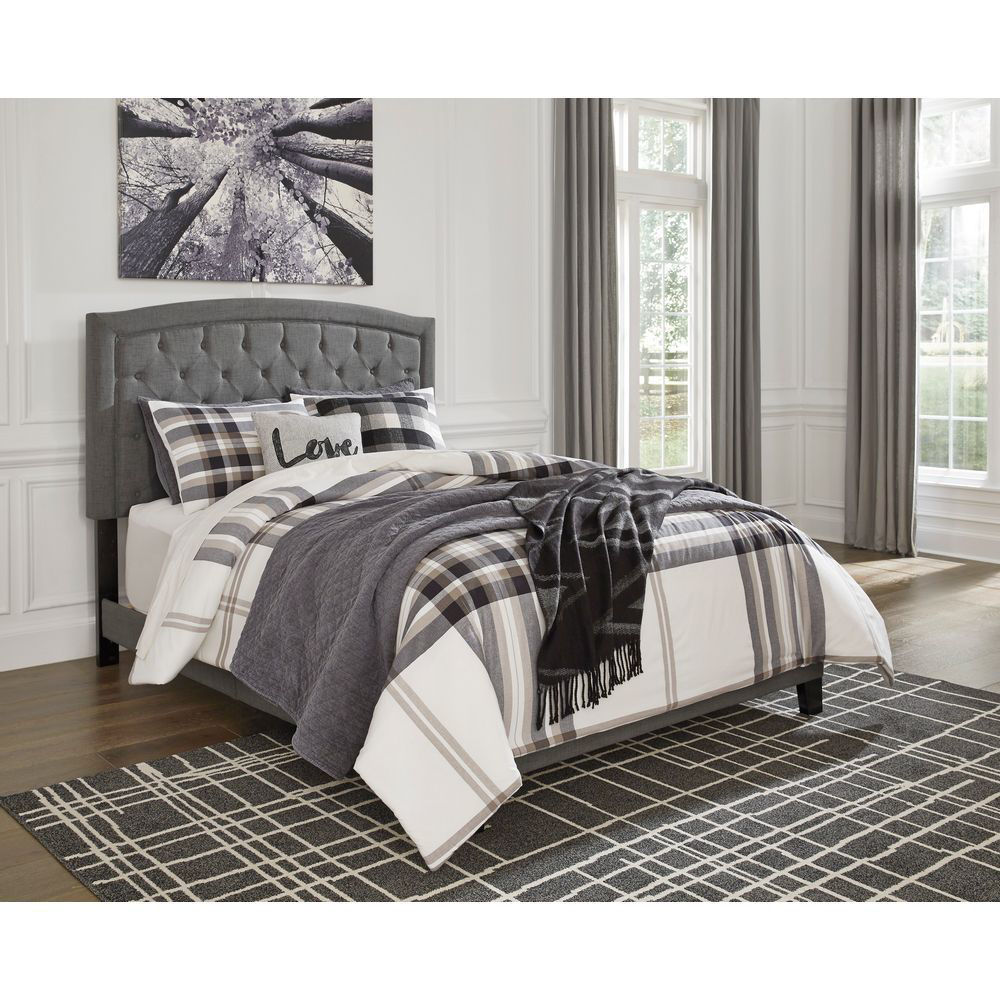 Picture of Jess Upholstered Bed - Gray