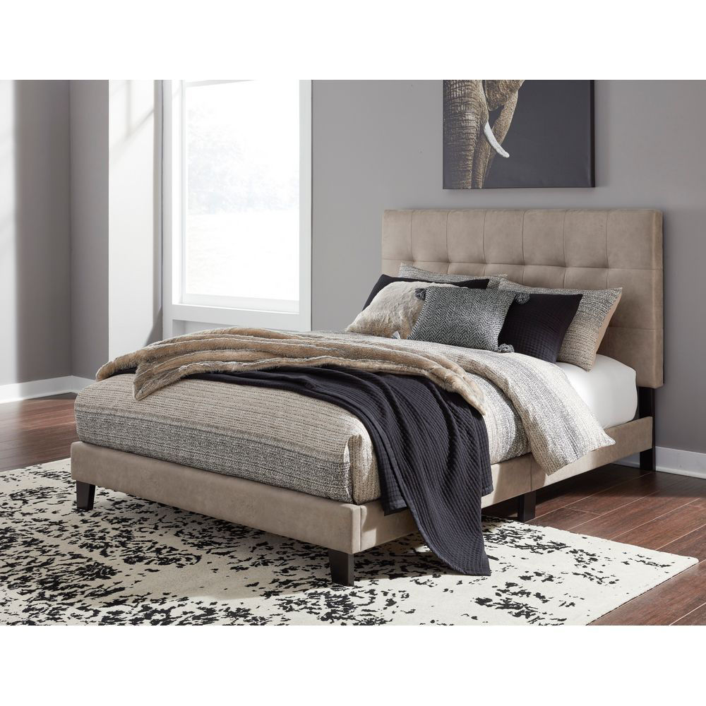 Picture of Jen Upholstered Bed - Tan