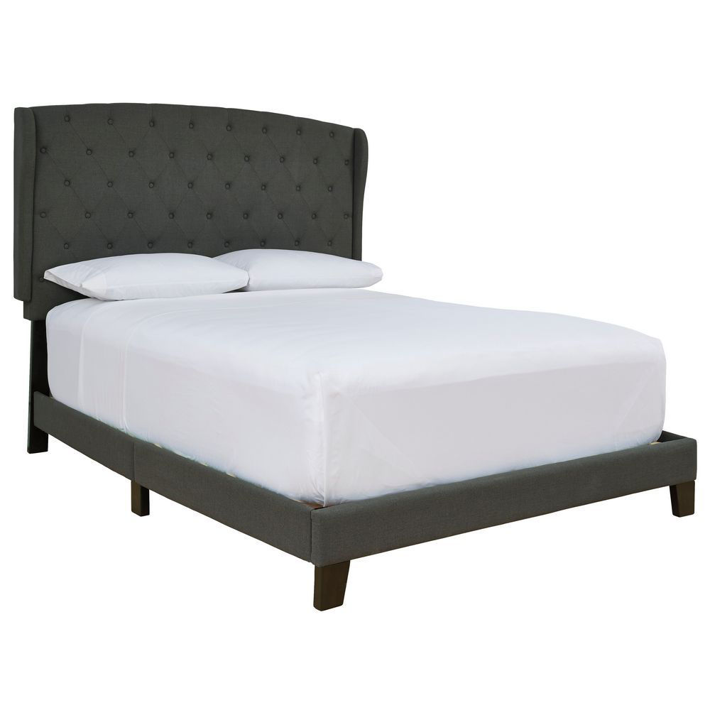 Picture of Ben Upholstered Bed - Charcoal