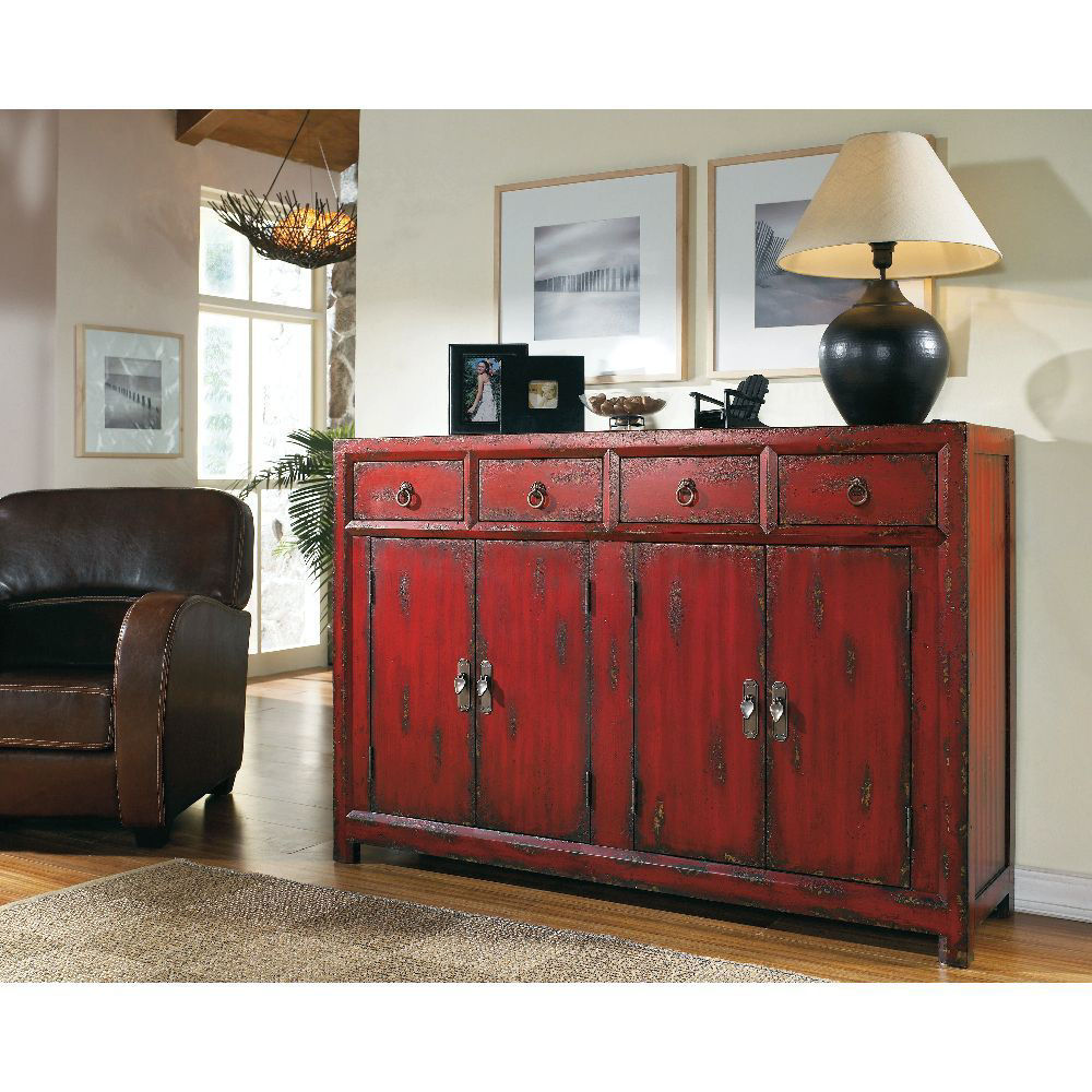 """Picture of Asian 58"""" Cabinet - Red"""