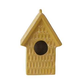 Picture of Tye Dimpeld Ceramic Bird House - Yellow