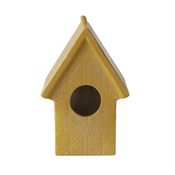Picture of Tye Lined Glass Ceramic House - Yellow