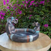 Picture of Sol Bird Bath - 2 Elephants