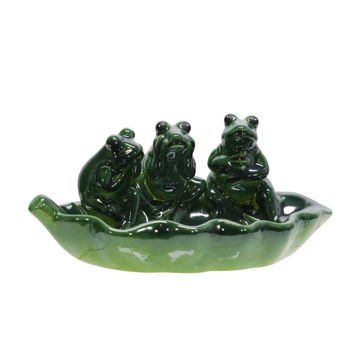 Picture of Cerys Ceramic Bird Feeder - 3 Frogs