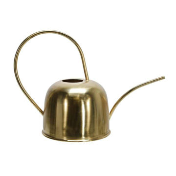 """Picture of Metal 11"""" Watering Can - Gold"""