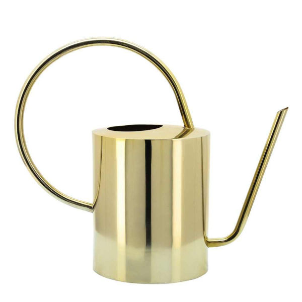 """Picture of Metal 12"""" Watering Can - Gold"""
