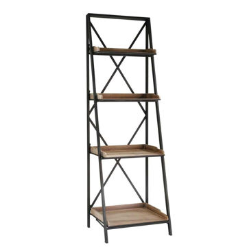 """Picture of Wood 57"""" 4-Tier Shelf Stand - Brown"""