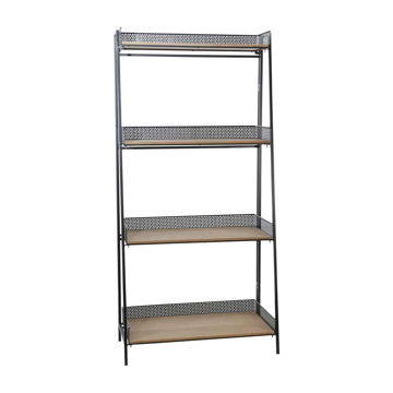 """Picture of Wood/Metal 55"""" Foldable Shelf - Brown/Black"""