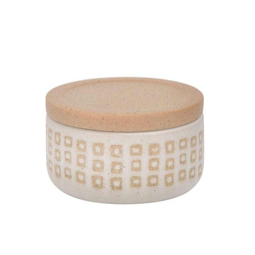 """Picture of Asmo 5"""" Ceramic Dotted Jar - Sand"""