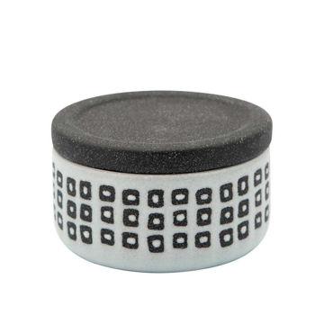 "Picture of Asmo 4"" Ceramic Dotted Jar - Black"