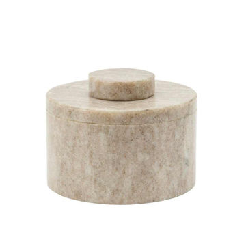 """Picture of Harry 4"""" Marble Round Box - Gray"""