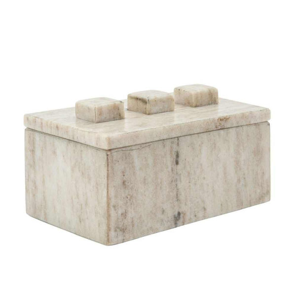 """Picture of Harry 6"""" Marble Rectangle Box - Gray"""