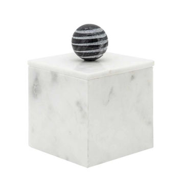 """Picture of Harry 5"""" x 7"""" Marble Box - White"""