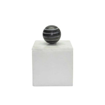 """Picture of Harry 4"""" x 6"""" Marble Box - White"""