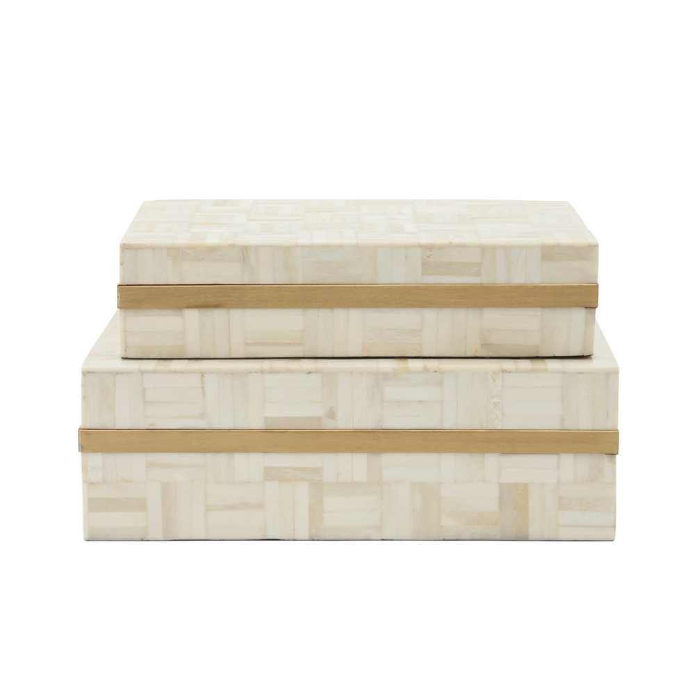 Picture of Stellano 2 -Piece Rectangular Box - Ivory