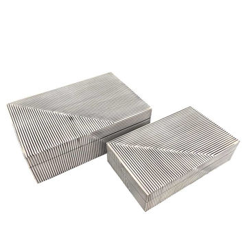 Picture of Asher Ridged Boxes- White
