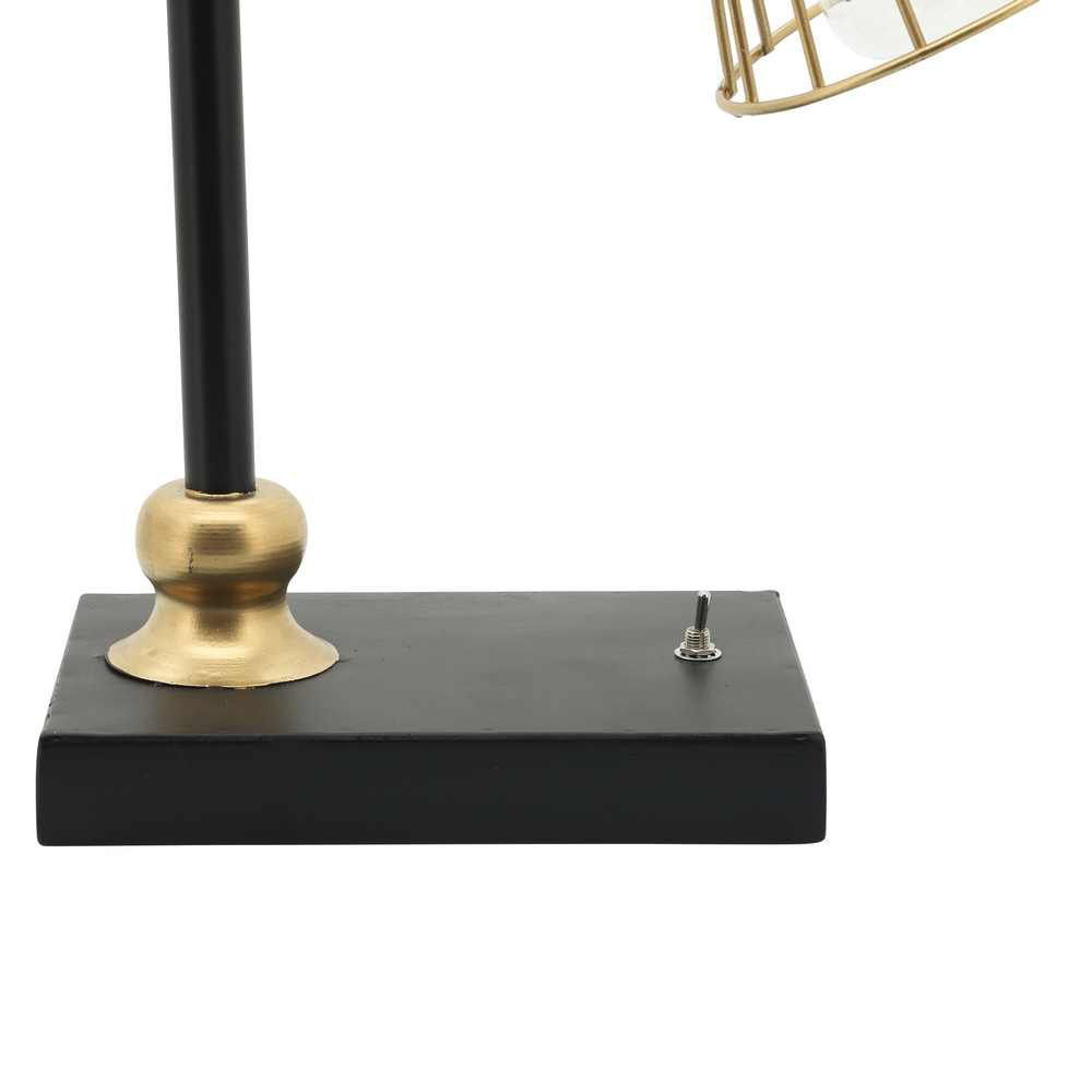 Picture of Industrial Metal Table LED Lamp - Black and Gold