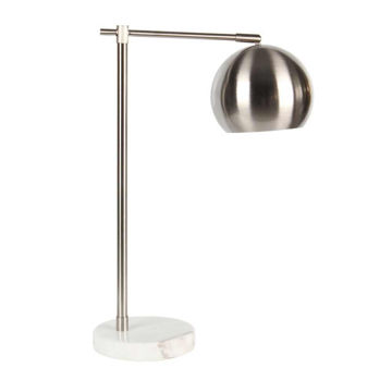 """Picture of Metal 22"""" Round Task Table Lamp - Silver"""