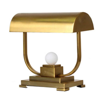 """Picture of Metal 19"""" Covered Desk Lamp - Gold"""