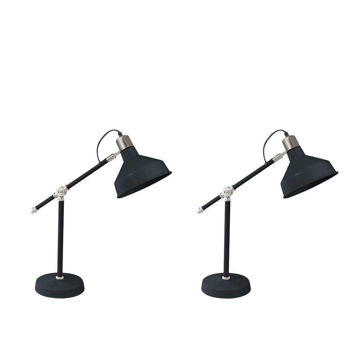 """Picture of Metal 20"""" Dome Shade Task Lamps - Set of 2 - Black"""