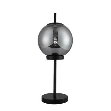 """Picture of Metal 20"""" Table Lamp with Glass Smoke Color Shade"""