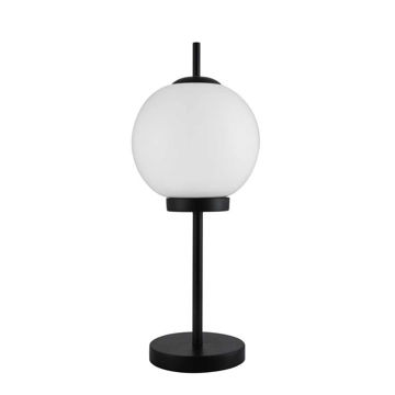 """Picture of Metal 20"""" Table Lamp with Glass Milky Color Shade"""