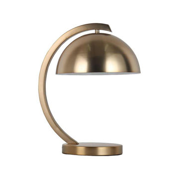 """Picture of Metal 15.25"""" Dome Shade Table Lamp - Gold"""