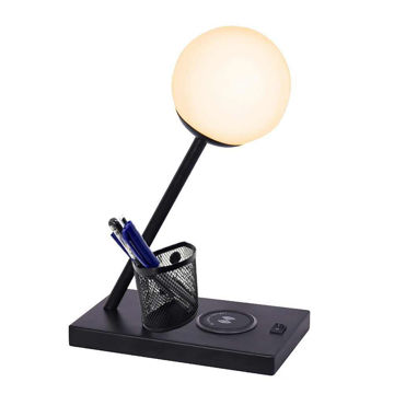 Picture of Task Lamp with Wireless Charging and Dimmer - Black